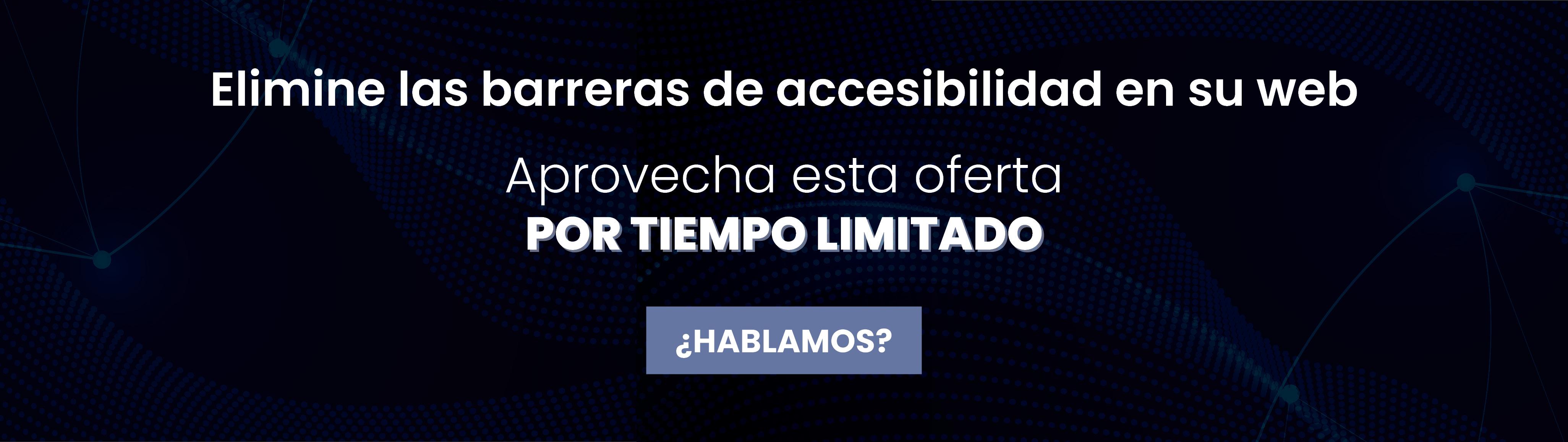 Formulario para beneficiarte de la campaña de otoño en accesibilidad web.